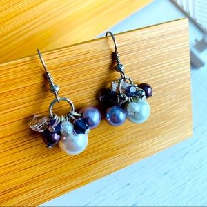 Swarovski Elements Handmade Crystal Purple Earring